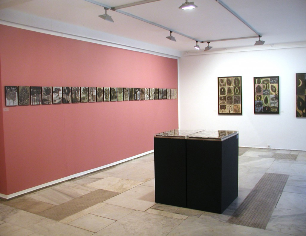 "View of Exhibition ""A Museum of Trees,"" at Athens Art Gallery, 2011."