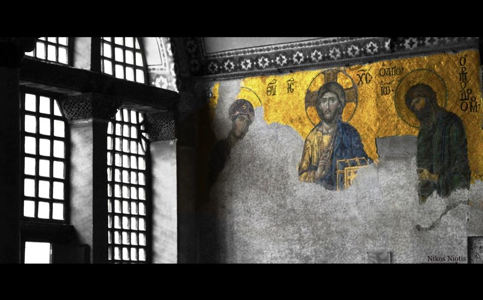 25. Agia Sophia mosaics in situ