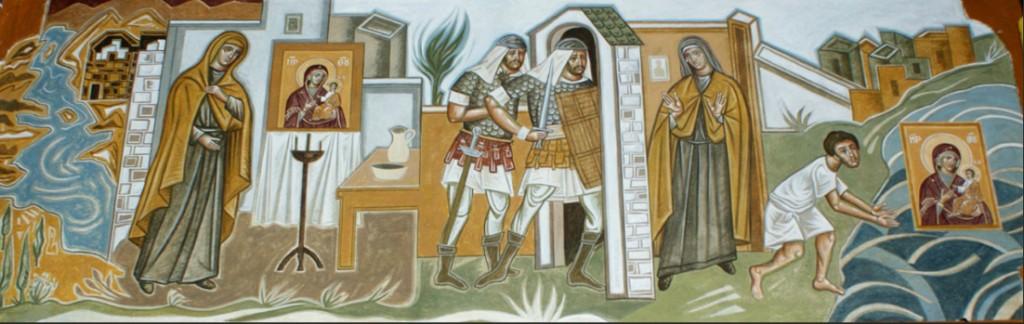 Kornofolia wall paintings, by Markos Kampanis.