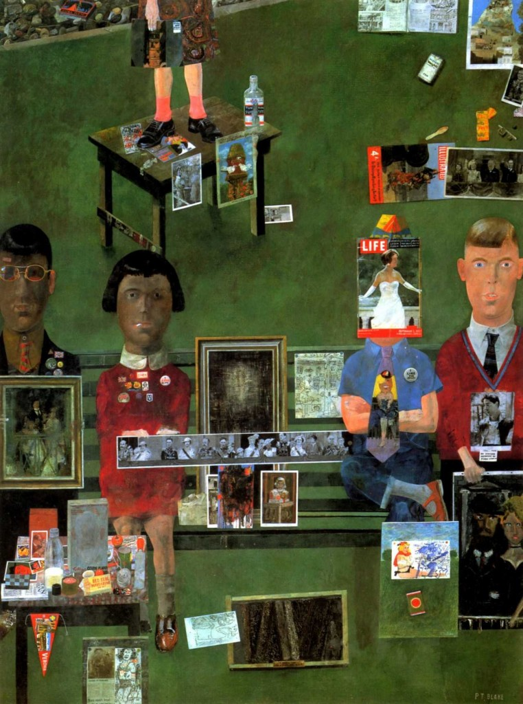 Peter Blake, On the Balcony, 1955-1957. Collage, mixed media, Tate Gallery.