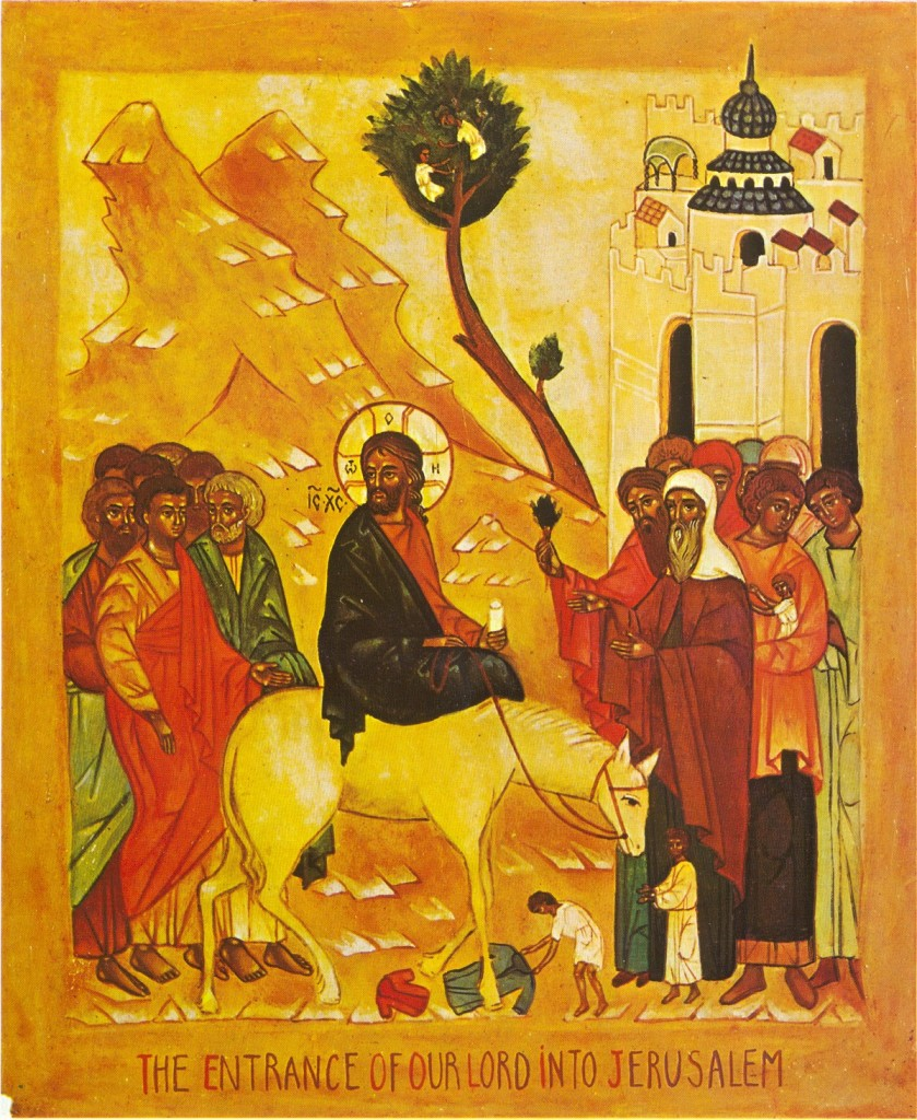 The Icon of Christ Entering Jerusalem, Palm Sunday