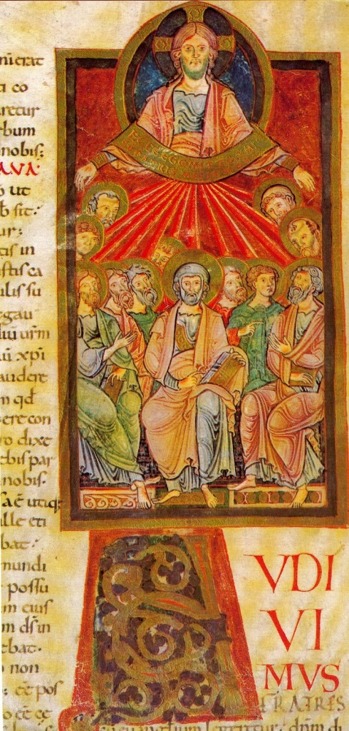 Pentecost, Cluny Lectionary, around 1000, Bibliothèque nationale, Paris.