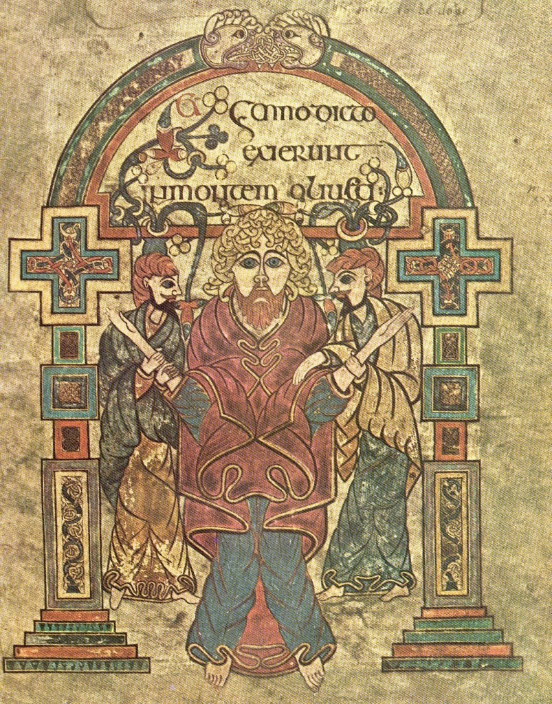 The Arrest of Christ, The Book of Kells, around 800, The Library of Trinity College, Dublin, Ireland.