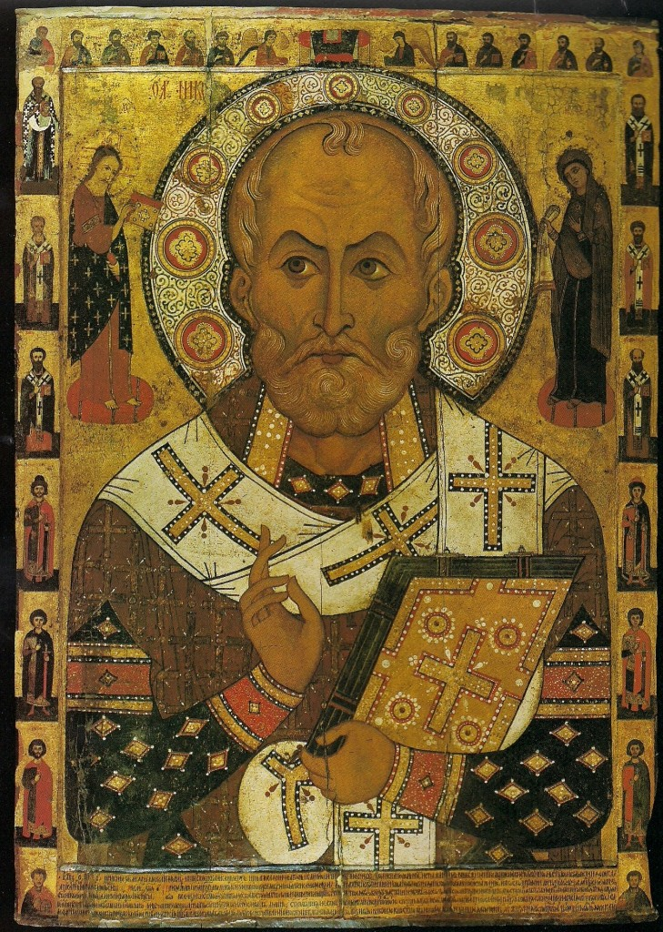 St. Nicholas by Alexis Petrov, Museum of History and Architecture, Novgorod, Russia, 1294.