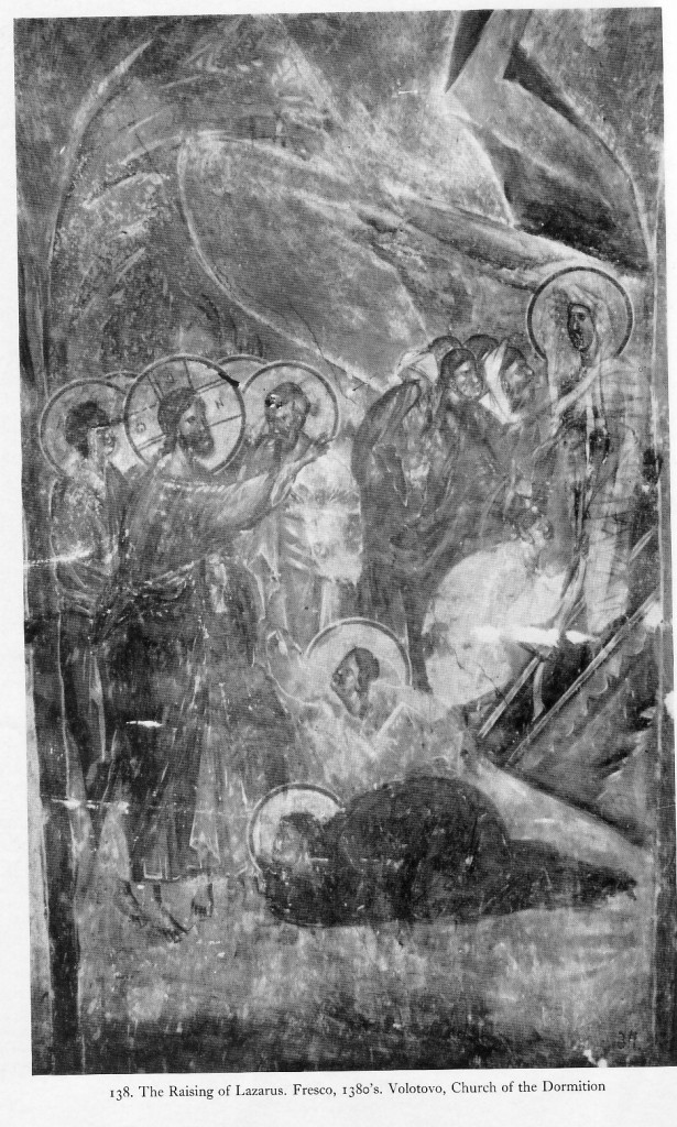 The Resurrection of Lazarus, Church of the Dormition, Volotovo, near Novgorod, Russia, 1380-1395.