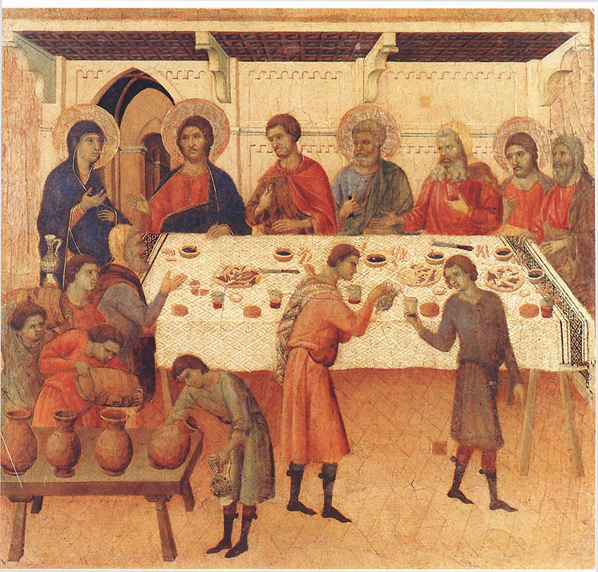 Wedding at Cana, by Duccio. Early 14th century.