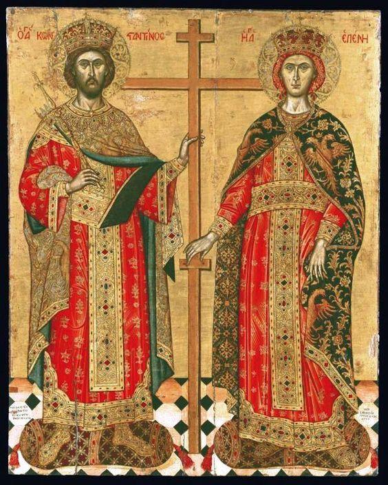 St-Constantin and Helena.  Emmanual Tzanes, 17th century.
