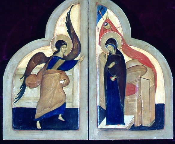 Annunciation by Fr Grigory Kroug