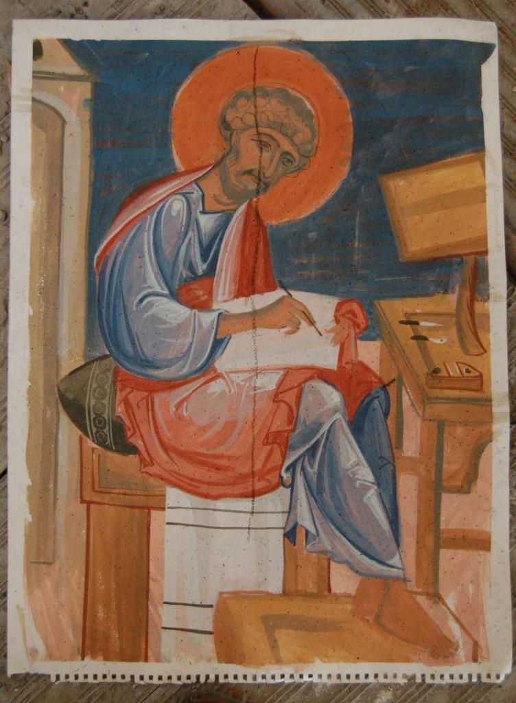 One of Vladimir's preparatory paint sketches.