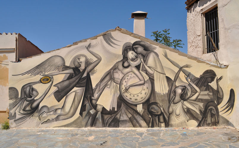 """Mural for """"Big Walls"""" Festival, by Fikos, 2012. Athens (Greece)."""