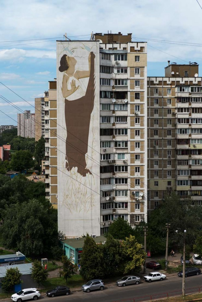 Fikos Antonios in Kiev for Mural Social Club Festival/NGO Sky Art Foundation. (photo © Maksim Belousov)