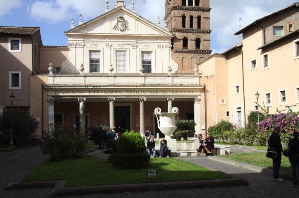 Portico garden, St Cecilia's, Rome.