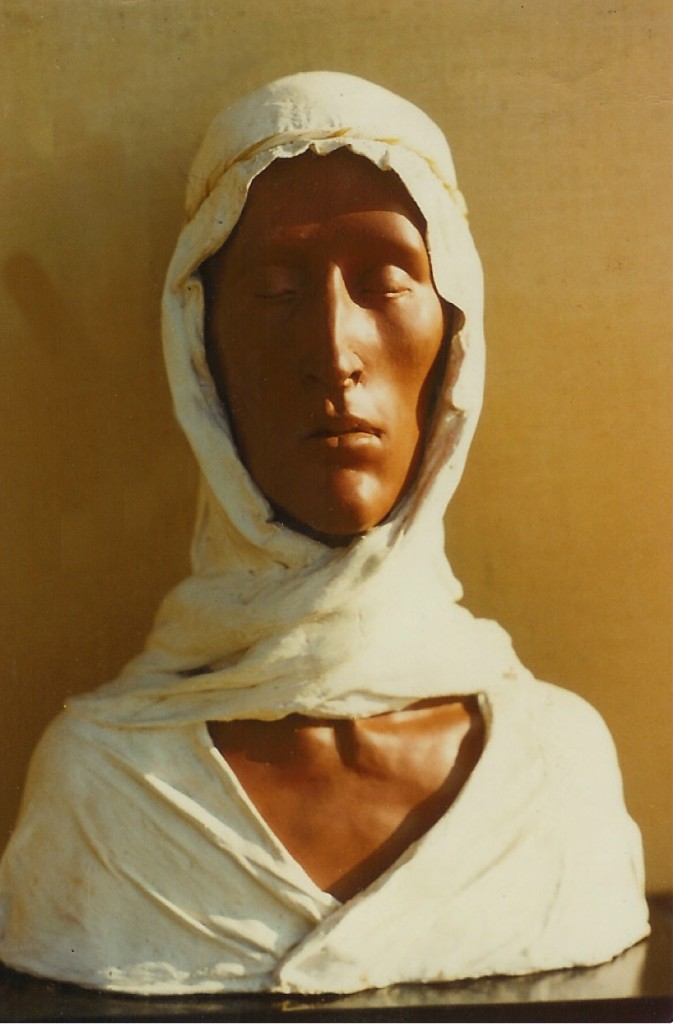 Man with a White Turban. By Aidan Hart, 1981. Ceramic, plaster and fabric.