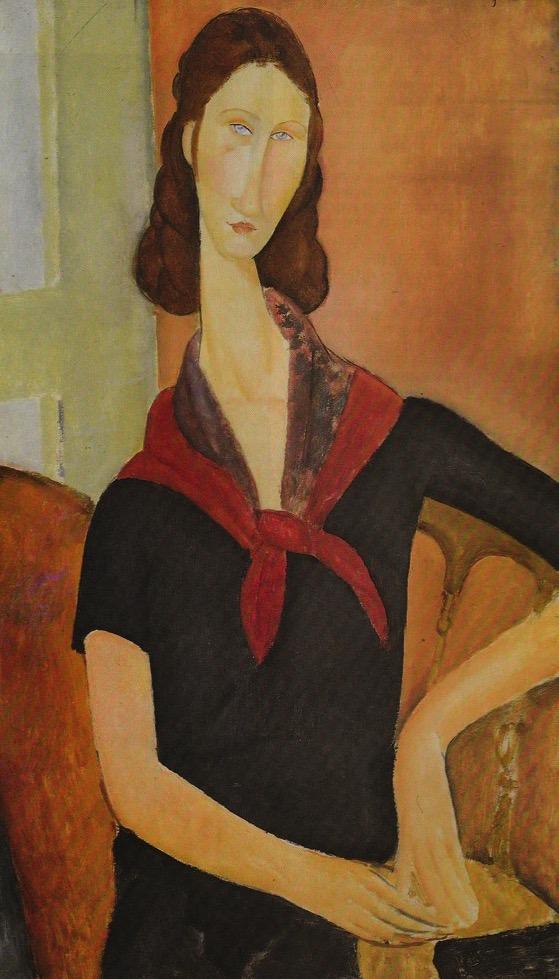 Portrait of Jeanne Hebuterne. By Modigliani, 1919.