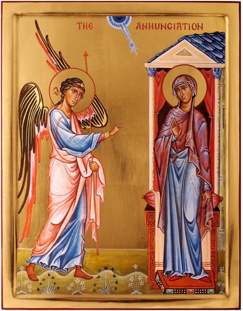 The Annunciation. By Aidan Hart, 2012
