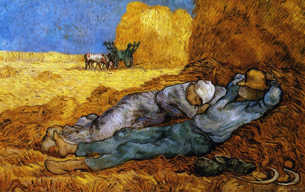 Rest from Work (after Millet). By Vincent Van Gogh,1890.