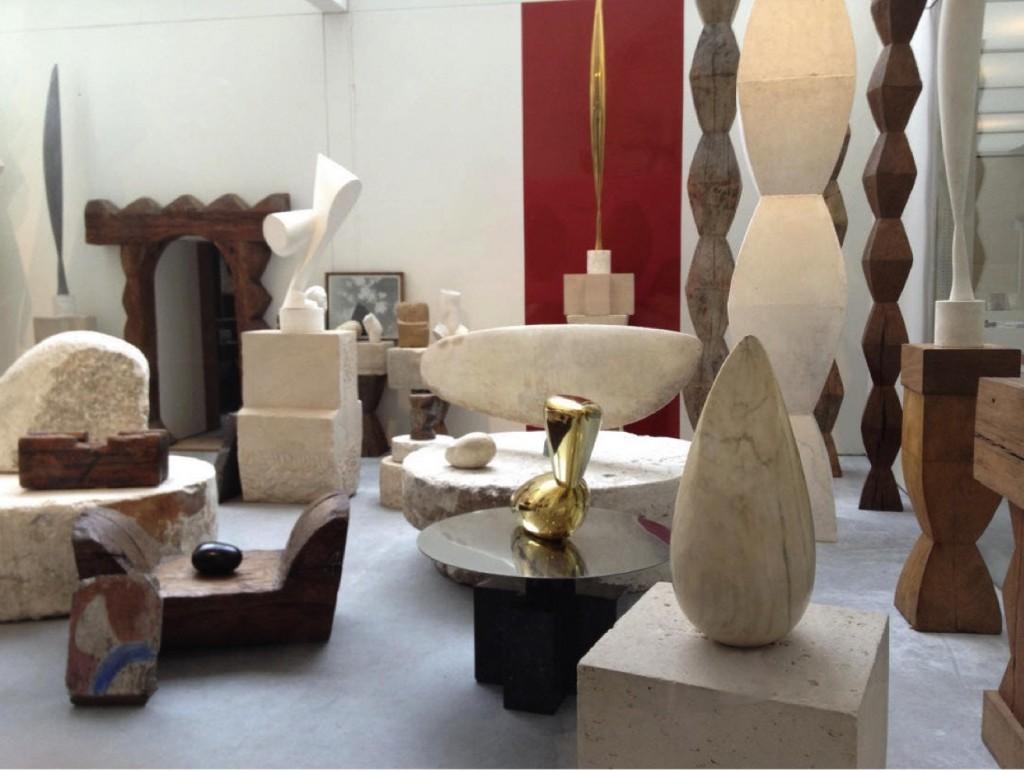 Brancusi's Paris studio.