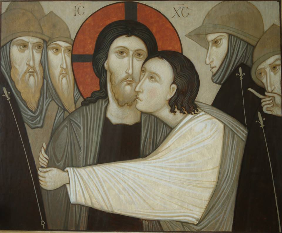 MAXIM SHESHAKOV, The Betrayal of Jesus. Egg tempera on gessoed panel.