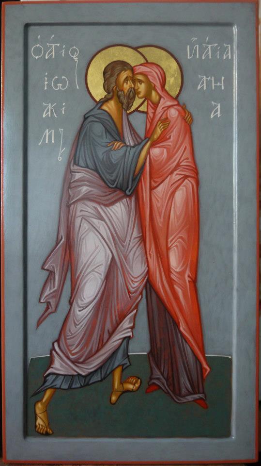 MAXIM SHESHAKOV, St. Joachim and ST. Anna. Egg tempera on gessoed panel.