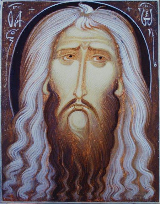 MAXIM SHESHAKOV, St. John the Baptist. Egg tempera on gessoed panel.