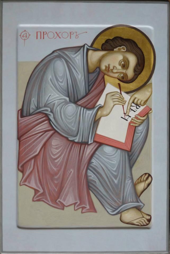MAXIM SHESHUKOV St. Prochoros the Deacon. Egg tempera on gessoed panel.