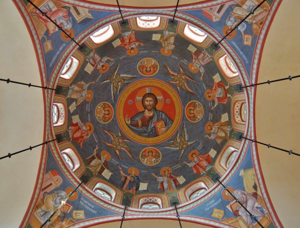 Dome at Holy Ascension in Mount Pleasant, SC. Artists: . Vladimir Grygorenko and Dmitri Shkolnik