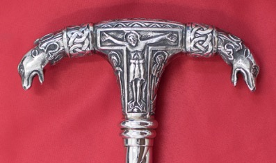 The head of the patriarchal staff, solid silver.