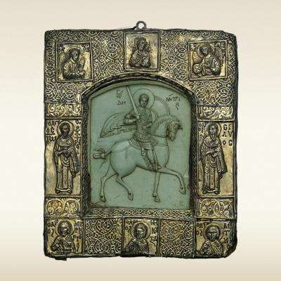 Steatite icon of St. Demetrios, 14th-century Byzantine