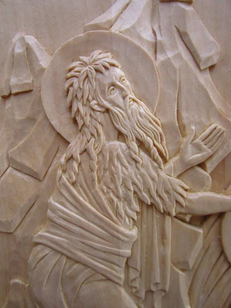 Detail of Theophany. Carved by the author.