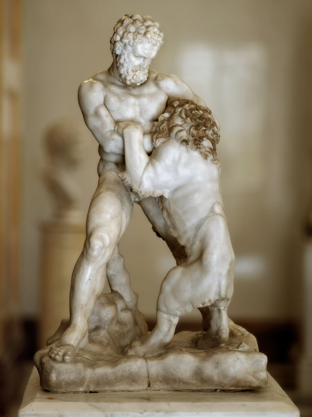 Saint-Petersburg, The State Hermitage Museum. Herakles struggling with the Nemean lion.