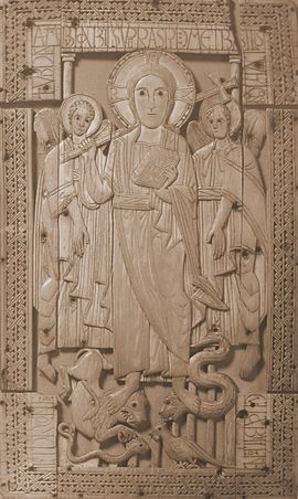 Ivory carving of Christ