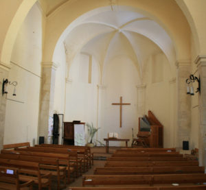 Former Dominican Monastery Church in the Principality of Orange, France, stripped of its adornment and transformed to a Protestant assembly