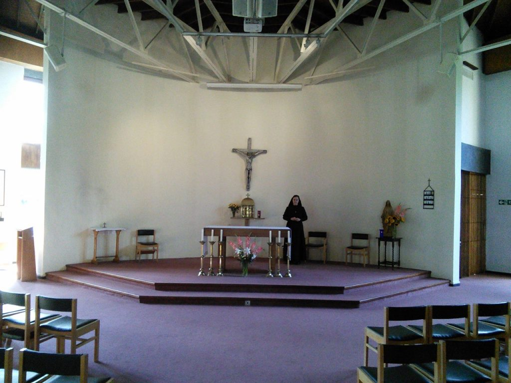 The chaplaincy before the wall painting.