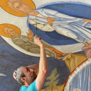 Painting the Iconographic Murals at Saint Gregory Palamas Monastery