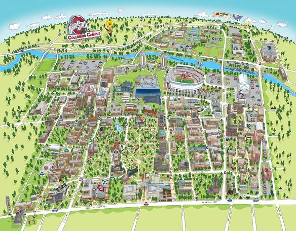 map of ohio state campus Ohio State University Campus Map Terry Sirrell 2139008 map of ohio state campus