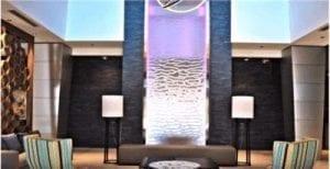 Custom Waterfall Mesh Water Wall Custom Water Feature for Miami Hotel