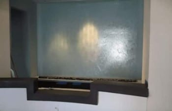 Custom Glass Water Feature Install
