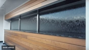 Glass Water Wall Waterfall Built Into Window Opening Stunning Water Feature Must Watch