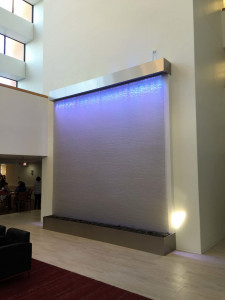 Stainless Mesh Water Wall Waterfall at Park Plaza in Chicago Illinois 5