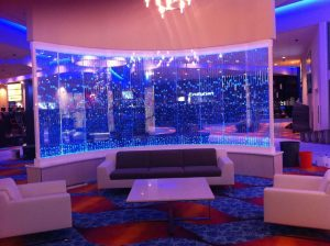 Vertical Chamber Curved Bubble Wall at Omak Casino  Resort in Omak WA 5