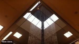Rain Curtain Waterfall in Square Shape