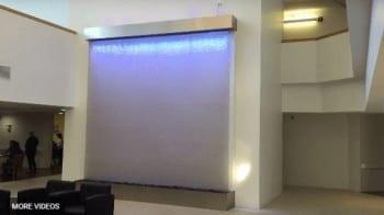 Custom Mesh Water Wall Waterfall Curtain Huge Indoor Cascading Water Feature
