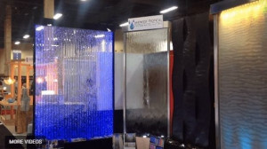 interior water wall display by midwest tropical