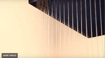 Custom Rain Curtain Waterfall Indoor Lobby Water Feature