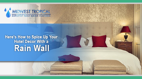 Here's how to spice up your hotel decor with a Rain Wall