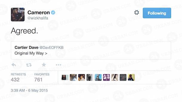 Wiz Khalifa My Way Tweet