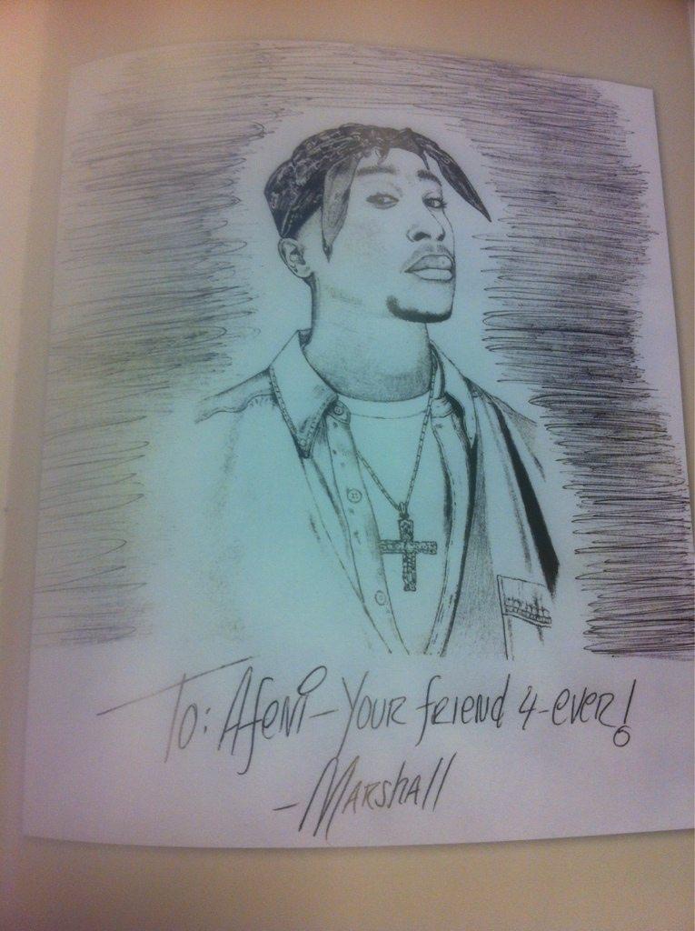 Eminem Tupac drawing