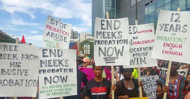 Meek Mill Fans Protest