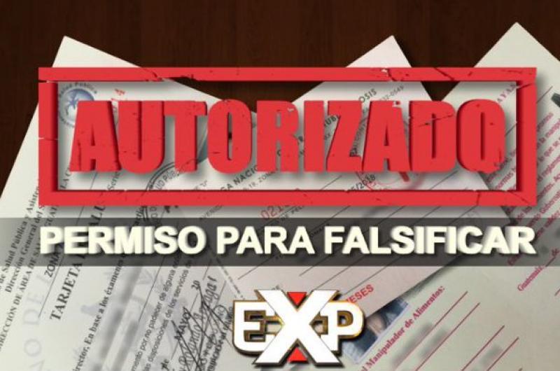 Expedientes: Autorizado, permiso para falsificar