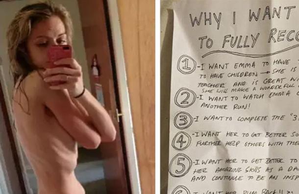 Se había rendido frente a la anorexia pero le llegó una carta que lo cambió todo